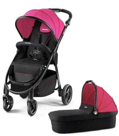 Recaro Citylife Pink otroški voziček + košara
