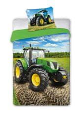 FARO Textil Detské obliečky Traktor - zelený 140x200 cm