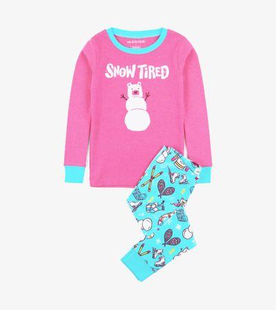 Little Blue House lány pizsama, 116, rózsaszín