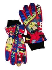 SETINO Chlapčenské lyžiarske rukavice - Hasič Sam - červená