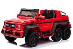 Beneo Elektrické autíčko Mercedes-Benz G63 6X6, MP3 přehrávač, 6 Kol, Podsvícené kola, Pohon 4x4, 12V14Ah