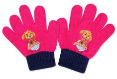 SETINO Disney dievčenské prstové rukavice - Paw Patrol - fuchsiová - 10x13cm