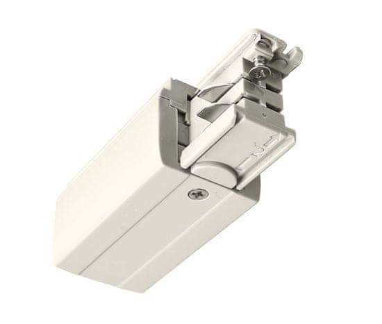 Light Impressions Deko-Light kolejnicový systém 3-fázový 230V D Line elektrické napájení levé 220-240V AC/50-60Hz bílá RAL 9016 98,5 710009