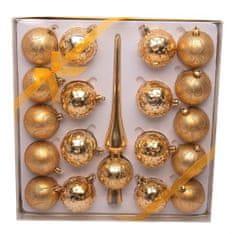 Seizis Súprava 18 x 6cm gúľ + 1x špička, zlatá