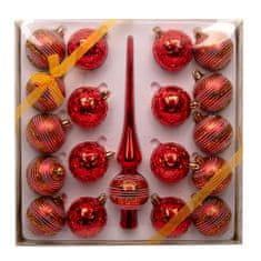 Seizis Súprava 18 x 6cm gúľ + 1x špička, červená