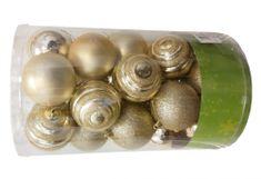 Seizis Set 25 plast. koulí 8cm mix druhů, zlatých
