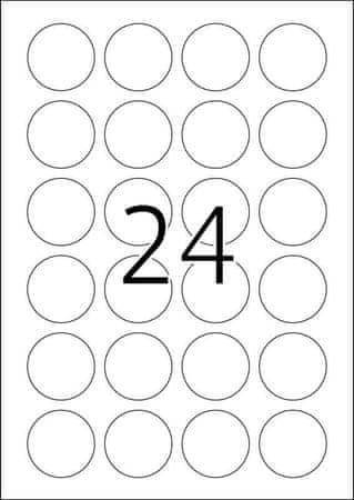 Herma Movables® 4476 etikete A4, krog, 40 mm, bele