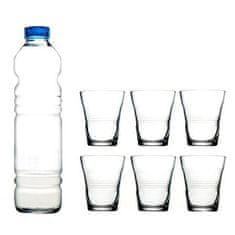 Pasabahce Vita set, steklenica + 6 kozarcev