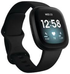 Fitbit Versa 3, Black/Black Aluminum