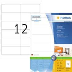 Herma Superprint 4669 etikete, A4, 97 x 42,3 mm, bele