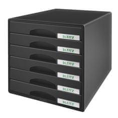 """Leitz Zásuvkový box """"Plus"""", černá, plast, 6 zásuvek"""
