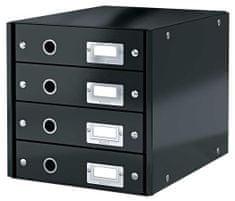 """Leitz Zásuvkový box """"Click&Store"""", černá, 4 zásuvky, lesklý"""