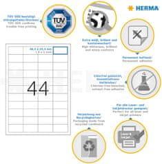 Herma Superprint 5051 etikete, A4, 48,3 x 25,4 mm, bele
