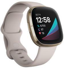 Fitbit Sense pametna ura, zlato-bež