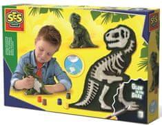 SES gips za stvaranje, sjajni kostur T-rex