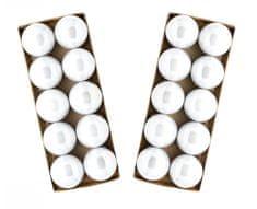 Seizis Set 2x10 koulí bílých perlových, 6cm