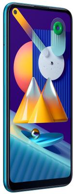Samsung Galaxy M11, velký displej, trojitý ultraširokoúhlý fotoaparát, NFC, čtečka otisků prstů, dostupný telefonm