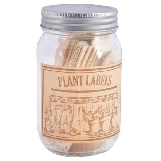 Esschert Design Štítky k rostlinám s tužkou a ve sklenici