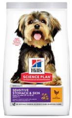 Hill's Science Plan Canine Adult Sensitive Stomach & Skin Small & Mini Chicken hrana za pse s osjetljivom probavom, za male pasmine, 6 kg