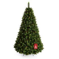 All4Customer Vánoční stromeček Borovice se zelenými konečky 220 cm