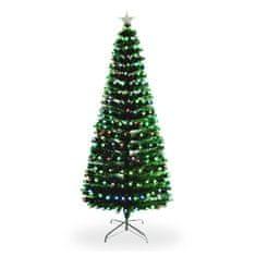 Vianočný stromček Jedľa Prírodná s LED osvetlením 210 cm