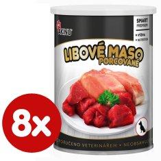 Akinu PREMIUM Libové maso pro psy 8x400 g
