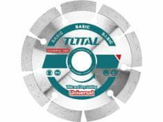 Total One-Stop Tools Kotouč diamantový řezný, segmentový, suché i mokré řezání, 125cm