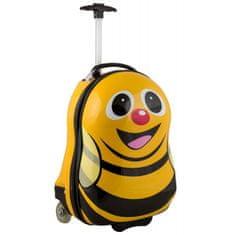 commshop Detský kufor žltý - včielka