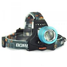 commshop Nabíjacia nárazuvzdorná LED čelovka s 2 LED diódami modré a biele farby