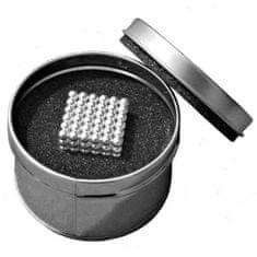 commshop Neocube - strieborné magnetické guličky v darčekovej krabičke