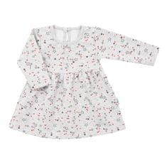 NEW BABY Kojenecké šatičky s dlouhým rukávem New Baby For Girls hvězdičky Barva: Šedá, Velikost: 68 (4-6m)