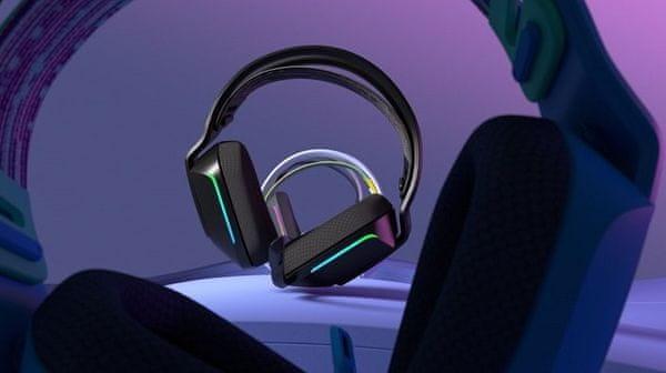 Logitech G733 Lightspeed, černá (981-000864) profesionální herní sluchátka, odpojitelný mikrofon, bezdrátová, 29 hodin baterie