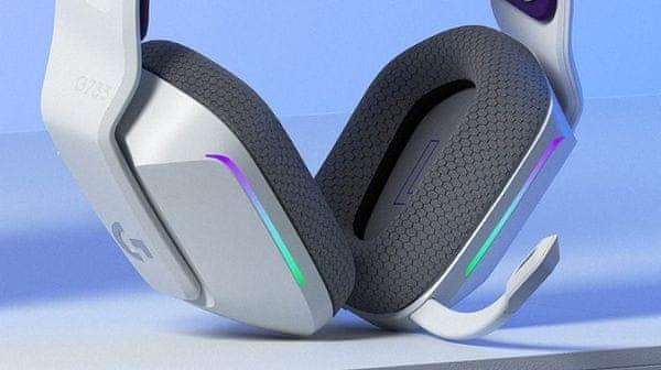Logitech G733 Lightspeed, černá (981-000864) profesionální herní sluchátka, odpojitelný mikrofon, blue voice, paměťová pěna