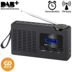Trevi 7F94R prenosni digitalni radio, DAB/DAB+/FM, polnilna baterija, črn