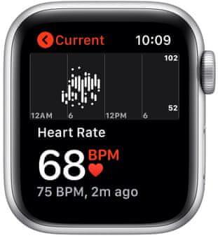 Chytré hodinky Apple Watch Nike SE (MYYH2HC/A pro běhání EKG sledování tepu srdeční činnost monitorování aktivity notifikace online platby Apple Pay tréninkové programy přehrávání hudby notifikace volání