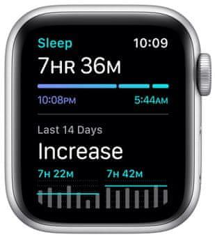 Chytré hodinky Apple Watch Nike SE MYYH2HC/A nike run club pro běhání sledování tepu srdeční činnost monitorování aktivity notifikace