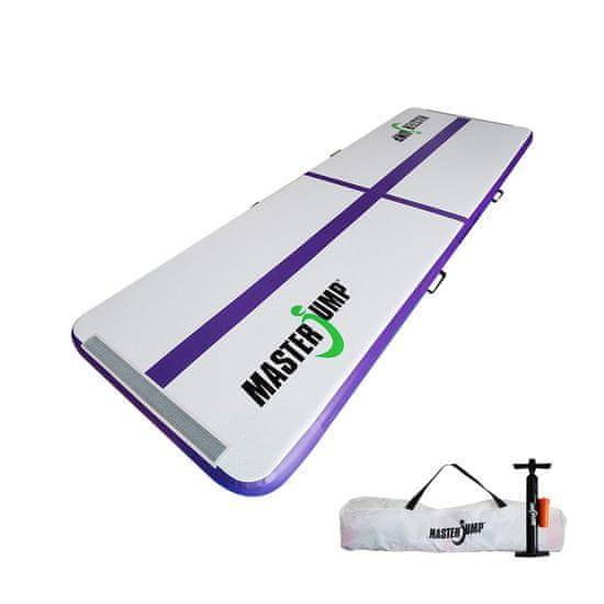 Masterjump Airtrack nafukovací žíněnka 300 x 100 x 10 cm - fialová