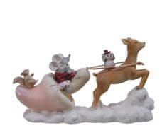Kaemingk Dekoráció - Szánkó egerekkel