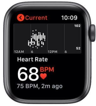 Chytré hodinky Apple Watch Nike SE (MYYF2HC/A pro běhání EKG sledování tepu srdeční činnost monitorování aktivity notifikace online platby Apple Pay tréninkové programy přehrávání hudby notifikace volání