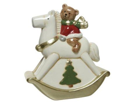 Kaemingk dekoracja Niedźwiadek na koniku na biegunach