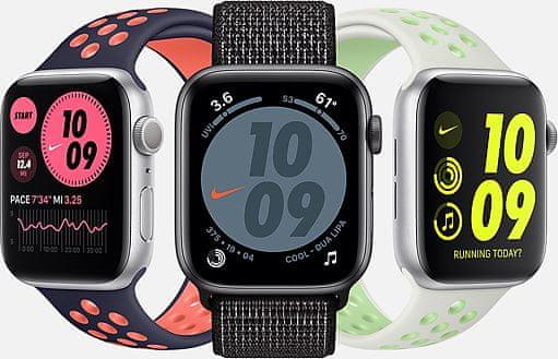 Chytré hodinky Apple Watch Nike SE (MYYH2HC/A velký Retina displej hliníkové pouzdro nastavitelný design vyměnitelný řemínek kolekce Nike