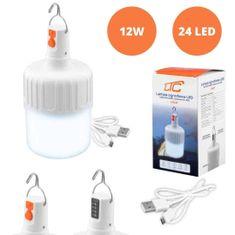 LTC Akumulatorska USB LED viseča svetilka 1200mAh 24 LED 350lm