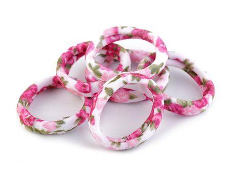 Kraftika 1card lila-rózsaszín virág haj rugalmas flamingo, szív