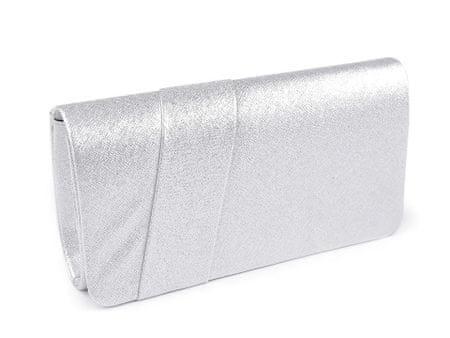 Kraftika 1db ezüst könnyű tengelykapcsoló táska / esti pénztárca