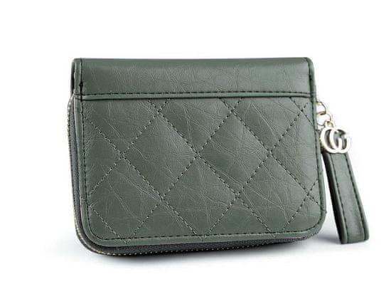 Kraftika 1ks 4 zelená lahvová peněženka prošívaná 9,5x12 cm