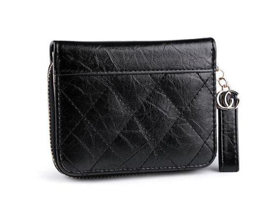 Kraftika 1ks 5 černá peněženka prošívaná 9,5x12 cm, peněženky