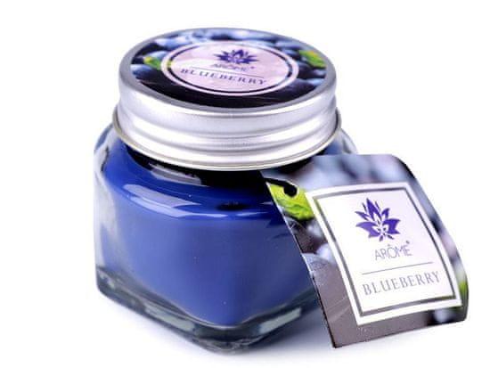 Kraftika 1ks (blueberry) modrá safírová malá vonná svíčka ve skle s