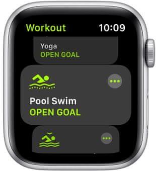 Chytré hodinky Apple Watch SE MYDQ2HC/A pro běhání EKG sledování tepu srdeční činnost monitorování aktivity notifikace online platby Apple Pay tréninkové programy přehrávání hudby notifikace volání