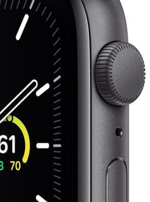 Chytré hodinky Apple Watch SE MYDP2HC/A tísňové volání detekce pohybu a automatické přivolání pomoci