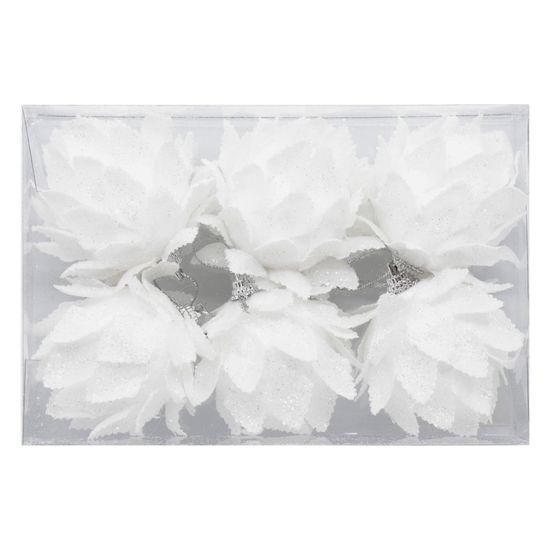 Seizis Koule květ 6ks, Ø 6cm - bílý